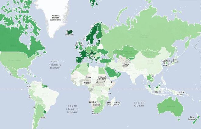 Turismo no mundo Fonte: The Telegraph, UK