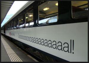 """Gooool! Trem suíço paramentado para a """"Copa das copas"""""""