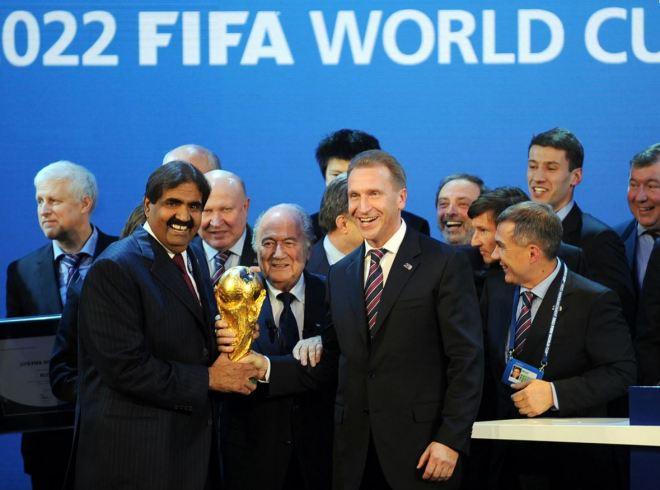 2010: Atribuição ao Catar do direito de sediar a Copa 2022