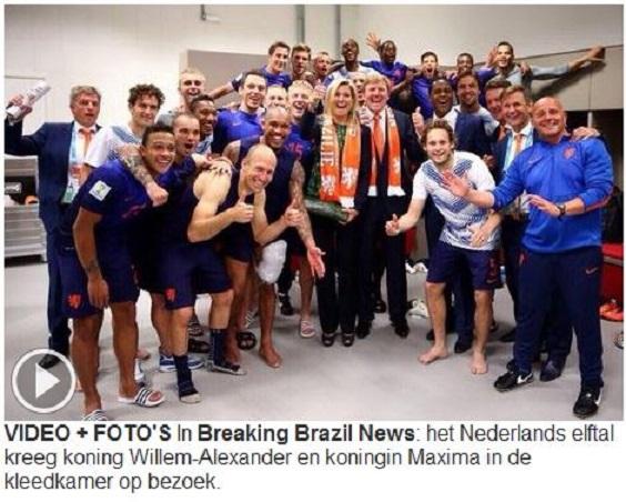 Rei e rainha da Holanda Sem perigo de xingamento Porto Alegre, 18 jun° 2014  -  Fonte: Telegraaf