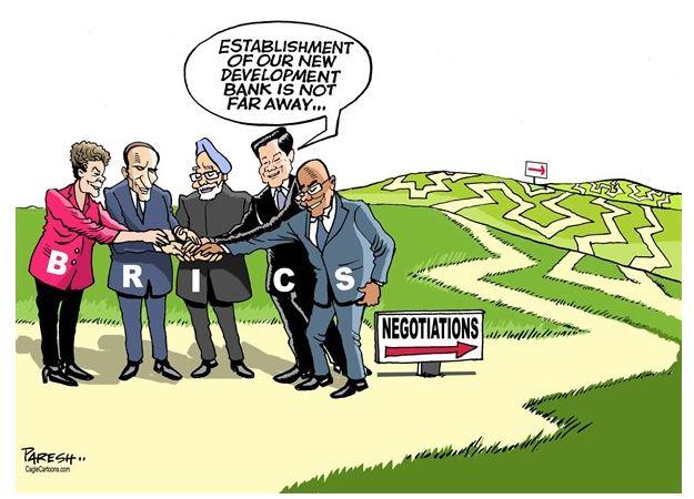 A criação de nosso banco de desenvolvimento não está longe. by Paresh Nath, desenhista indiano