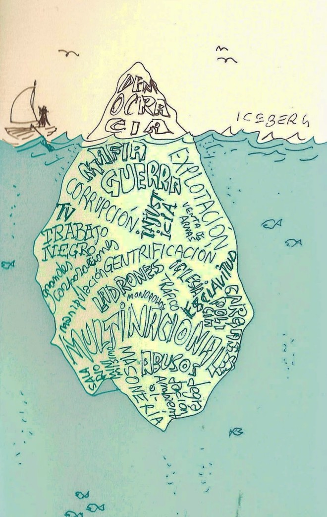 Democracia segundo Massimo Pietrobon, desenhista italiano