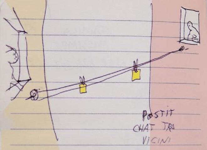 Chat surreal entre vizinhos Massimo Pietrobon, desenhista italiano