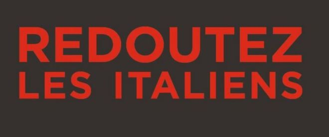 Tenha receio dos italianos!