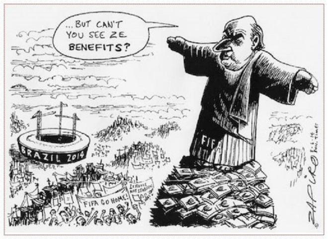 Mas... vocês não conseguem ver os benefícios? by Jonathan Zapiro, desenhista sul-africano