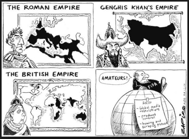 O Império Fifa by Jonathan Zapiro, desenhista sul-africano