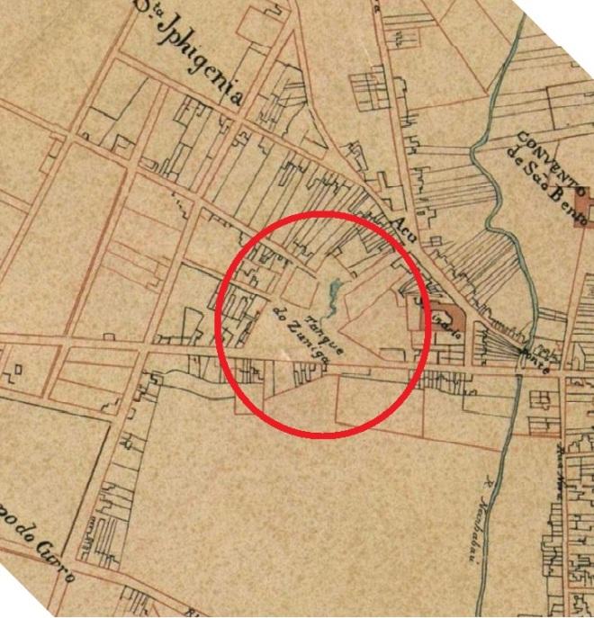 São Paulo, Tanque do Zuniga Mapa de 1847 do Eng° Civil Bresser