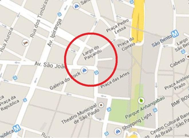 São Paulo, Localização do Tanque do Zuniga Mapa atual do Google