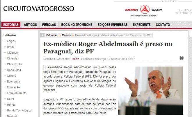 O jornal Circuito Mato Grosso já lhe aboliu a formação.