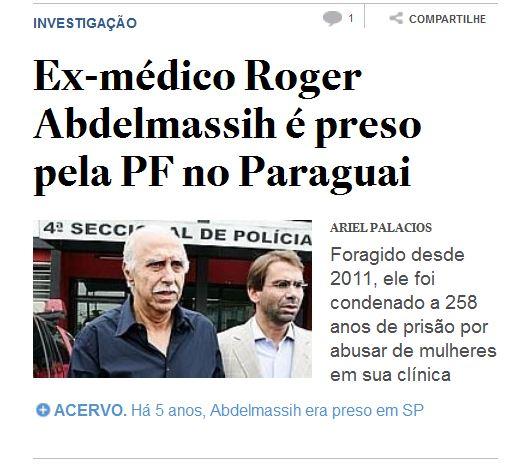 O jornal O Estado de São Paulo já lhe aboliu a formação.
