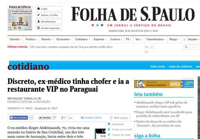 A Folha se retrata: El-Massih deixa de ser médico.