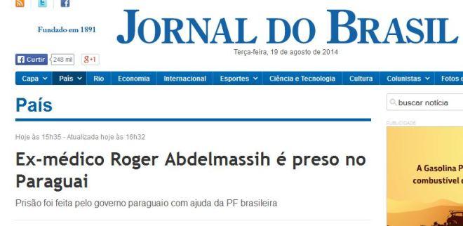 O Jornal do Brasil já lhe aboliu a formação.