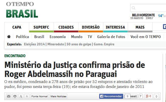 O jornal O Tempo já lhe aboliu a formação.