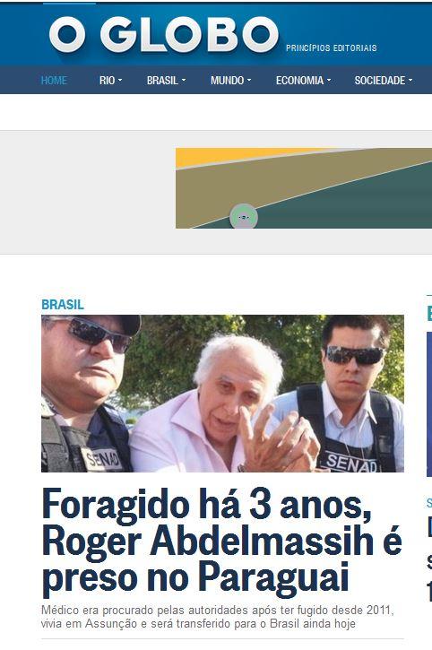Para o jornal O Globo, ele ainda é médico.
