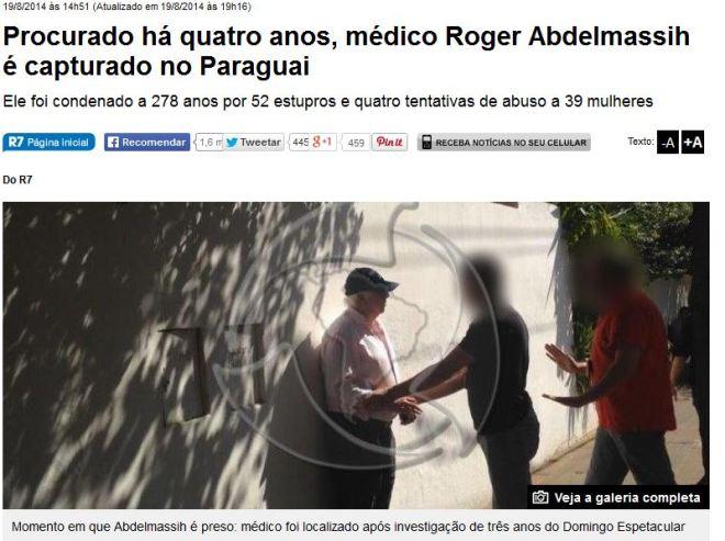 Para o jornal R7, ele ainda é médico.