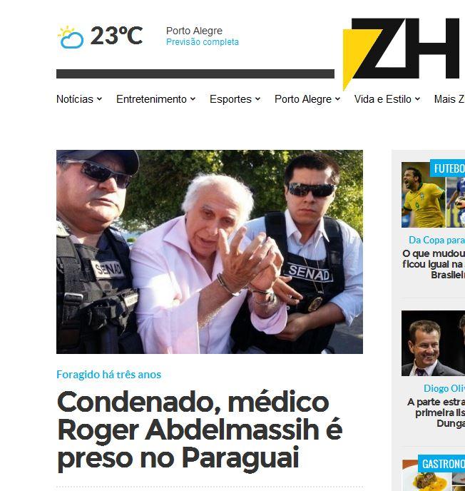 Para o jornal Zero Hora, ele ainda é médico.