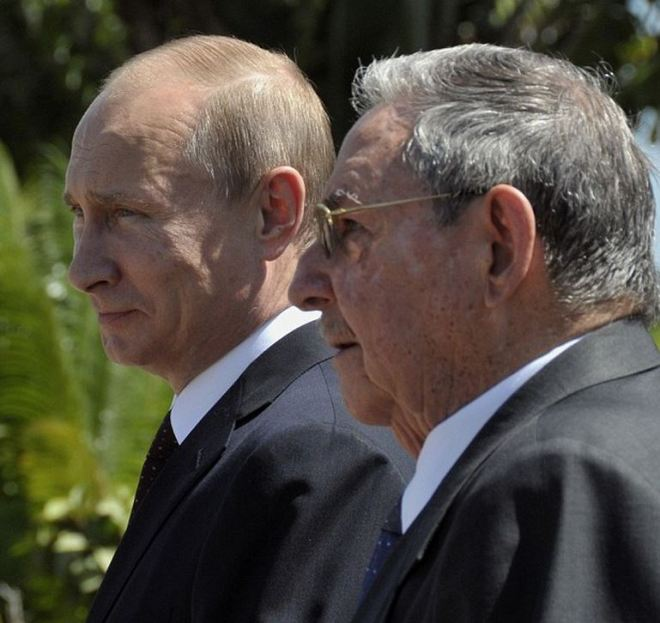 Putin e Castro
