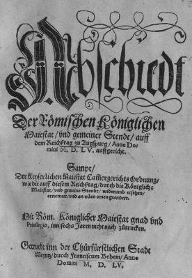 Paz de Augsburgo, 1555