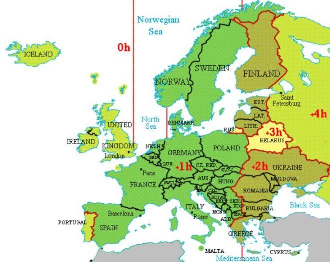 Hora legal na Europa