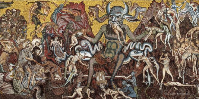 Inferno de Dante - Mosaico do Batistério de Florença