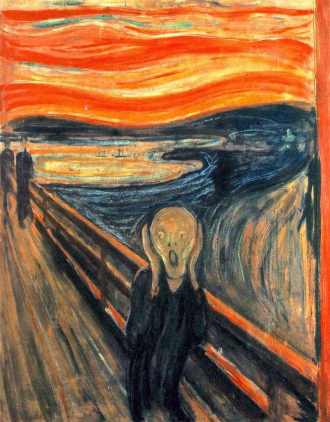 O grito by Edward Munch, pintor norueguês