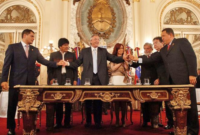 Cerimônia de fundação do Banco del Sur