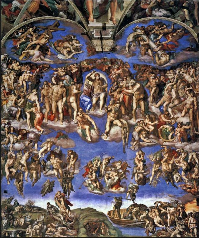 Juízo Final by Michelangelo Buonarrotti (1475-1564)