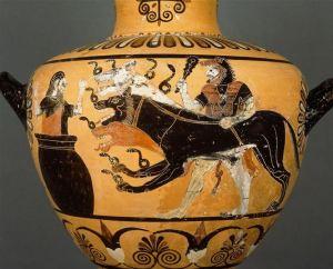 Plutão e Cérbero, seu cão de três cabeças