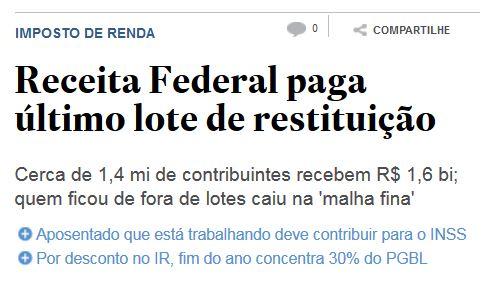 Estadão online, 15 dez° 2014