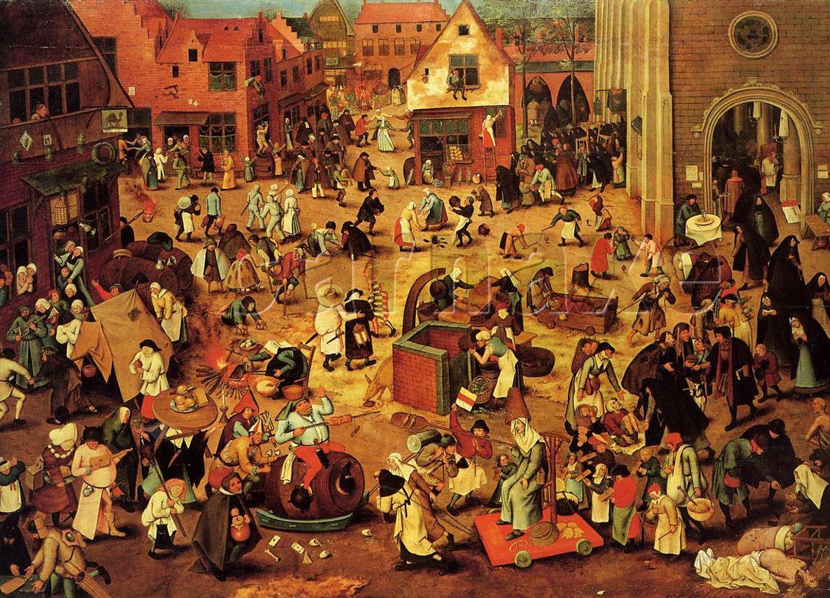 Cena da Idade Média by Pieter Bruegel (≈1525-1569), artista flamengo