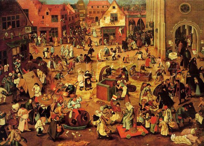 Luta entre o Carnaval e a Quaresma by Pieter Bruegel (≈1525-1569), artista flamengo