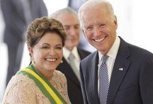 Dilma e Joe Biden, vice-presidente dos EUA