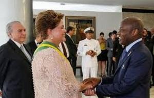 Dilma e José Mario Vaz, mandatário da Guiné-Bissau
