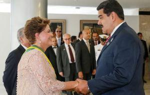 Dilma e Nicolás Maduro, presidente da Venezuela