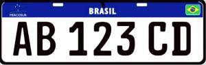 Nova placa brasileira
