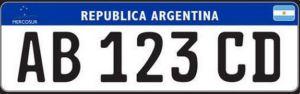 Nova placa argentina