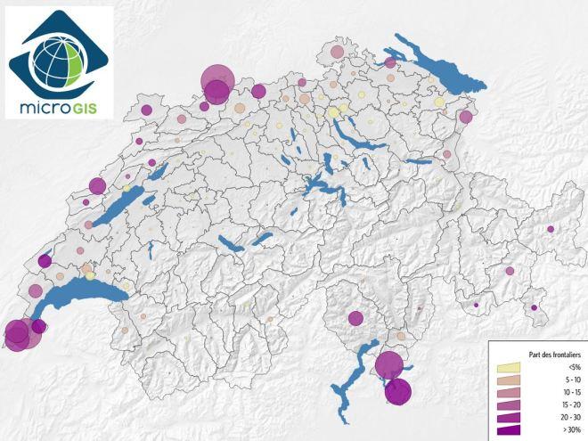"""Presença de trabalhadores """"frontaleiros"""" em diversas regiões da Suíça"""