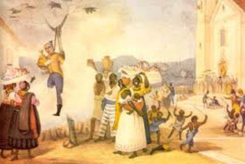 Malhação do judas by Jean-Baptiste Debret (1768-1848), artista francês