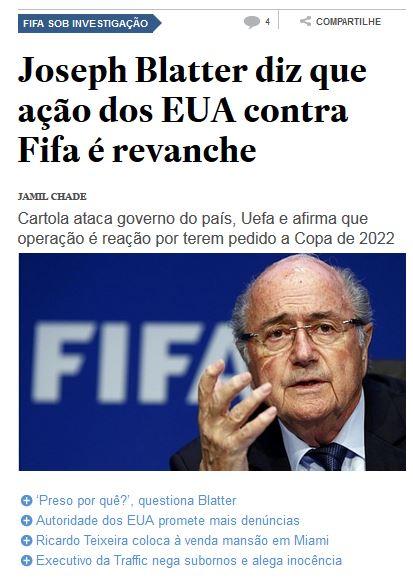 Chamada do Estadão, 30 mai 2015