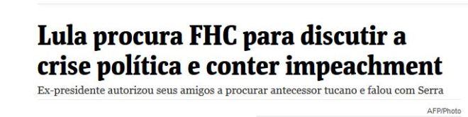 Chamada da Folha de SP, 23 jul° 2015