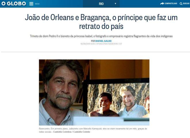Chamada d'O Globo, 16 ago 2015
