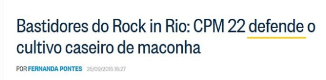 Chamada O Globo, 26 set° 2015