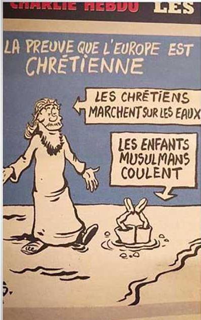 A prova de que a Europa é cristã: Os cristãos andam sobre as águas As crianças muçulmanas afundam