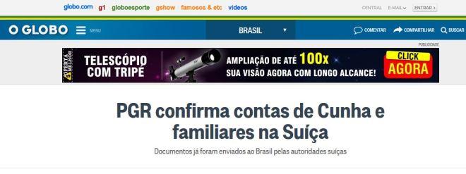 Chamada d'O Globo, 1° out° 2015