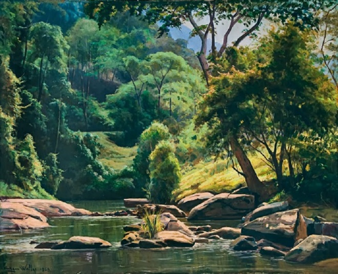 Edgar Walter Simmons (1917-1994), artista mineiro Óleo sobre tela