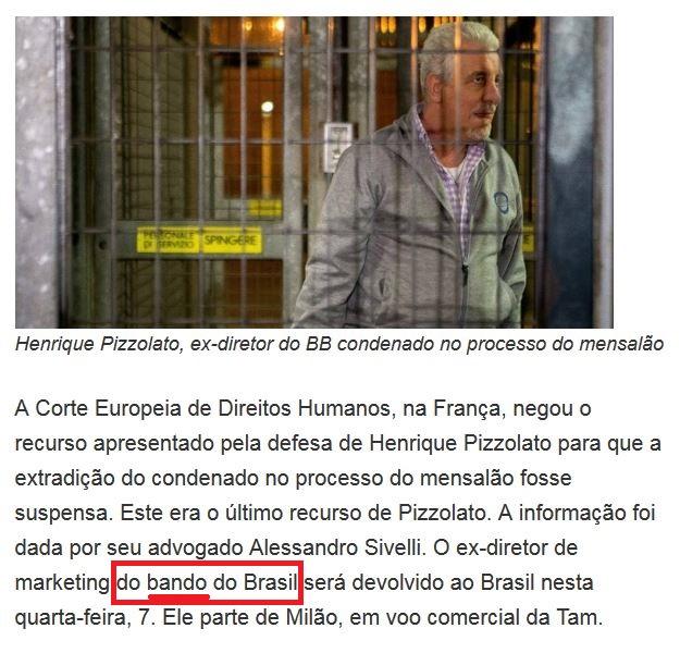 Trecho de reportagem do Estadão, 6 out° 2015