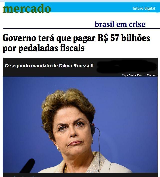 Chamada da Folha de São Paulo, 4 nov° 2015