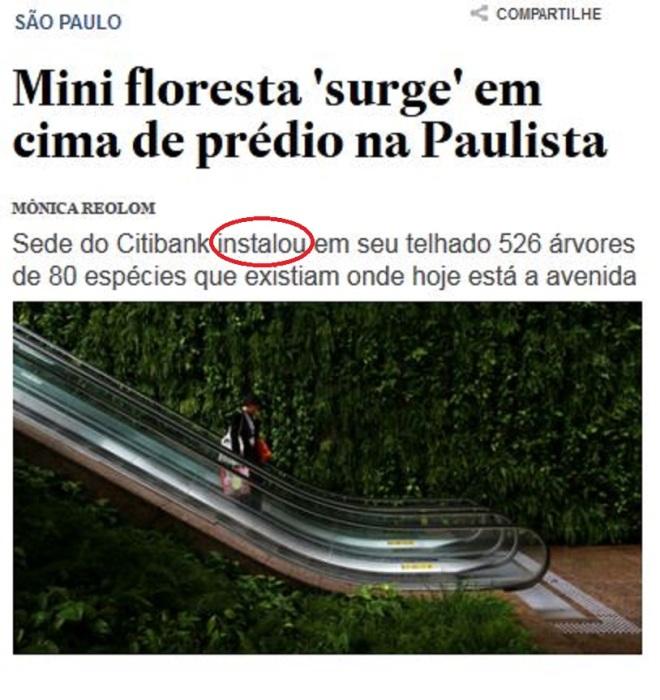 Chamada do Estadão, 7 nov° 2015