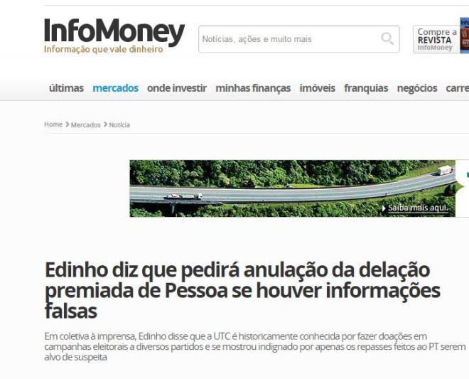 Chamada de InfoMoney