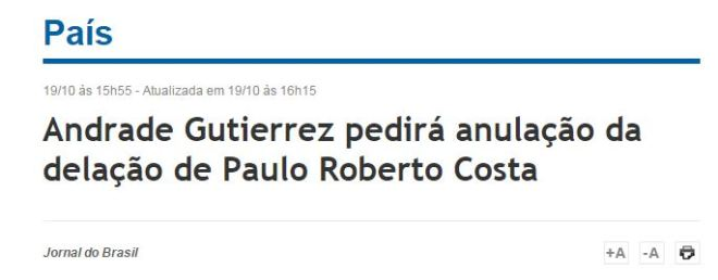 Chamada do Jornal do Brasil